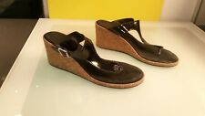 Lauren Ralph Lauren cork wedge heels good condition women's size 8