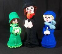 Handmade Christmas Carolers Knit Set of 3 Figures Dolls