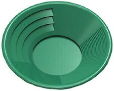 SE GP1014G14 14-Inch Green Gold Pan, Plastic Body, Dual Riffles