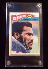 HARRY CARSON 1977 TOPPS Autographed Signed FOOTBALL Card 146 GIANTS FG