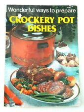 Vintage Antique Cooking Cook Book Crockery Pot Dishes Paperback By Ayers James