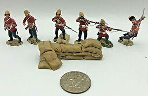 (7) Pc 2009 Britains WBZW Zulu War Rourkes Drift British Lead 54mm Toy Soldiers