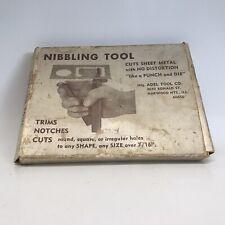 Vintage Adel Tool Co Nibbling Tool Trims Notches Cuts Sheet Metal