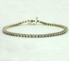 "Diamond tennis bracelet 14K yellow gold 66 round brilliants 2.00CT 7 5/8"" 9.4 GM"
