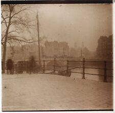 Amsterdam Pays-Bas Hollande Photo Plaque de verre Stereo H5 Vintage 1912