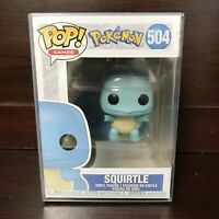 "Funko Pop Games : Pokemon : Squirtle #504 Vinyl w/0.5mm Case ""MINT"" (IN STOCK)"
