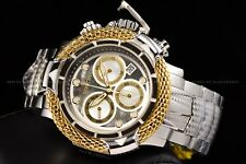 Invicta 55mm Subaqua Poseidon AGE of EMPIRE Swiss 18K Gold Plated Ring MOP Watch