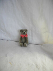 "Vintage 3 1/2"" Early Schuco grey Mohair Teddy Bear Fully Jointed Excellent"