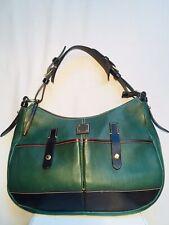 Dooney & Bourke Shoulder Bag Double Pocket Green and Brown Satchel/Purse