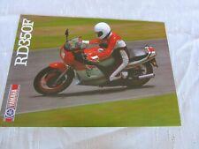 Yamaha RD350F LC RD350 1986 sell brochure