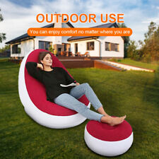 BEAN BAG lazy Chair Sofa Lounger Inflatable Folding Recliner Indoor Outdoor New
