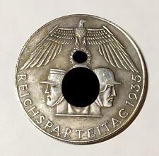 Piece Hitler 1935 10RM Reichsmark Coin Nurnberg ww2 German