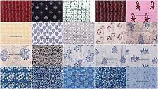 Wholesale 200 Yard Block Printed 100% Cotton Fabric Indian Sewing Running Fabric