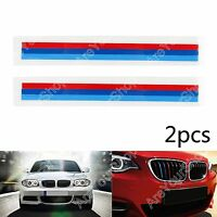 2PCS Front Grille Grill Vinyl Strip Sticker Decal Pour BMW M3 M5 E46 E60 E90 E92