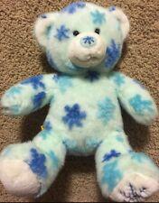 "Build A Bear Plush BAB Winter Snowflake Blue Toy Stuffed Animal 16"""