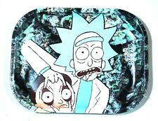 """""""Rick and Morty Eyes with buds"""" Premium collectible Rolling Tray  5""""x 7"""""""
