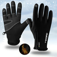 Men Women Winter Motorcycle Touch Screen Ski Gloves Waterproof Warm Snowboard US