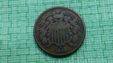 1865 2 cent piece good plus details  , nice old US coin.   #A164