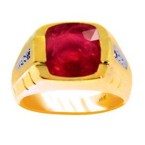 Ruby & Diamond Ring Sterling Silver