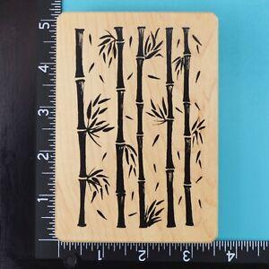 Bamboo Background 1003 Inkadinkado Galerie Vernissage Wood Rubber Stamp