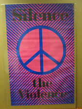 vintage 1993 Silence the Violence original peace hippie poster 7323