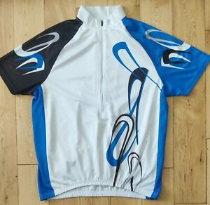 Crane Short Sleeve Cycling Jersey Size XXL.White,Blue,Black,Silver