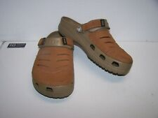 Crocs Brown Suede Bogota Clogs Men's Size 8