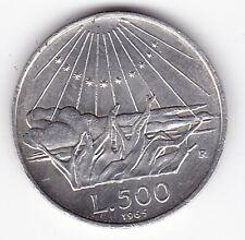 REPUBBLICA ITALIANA 500 LIRE IN ARGENTO DEL 1965, VEDI FOTO