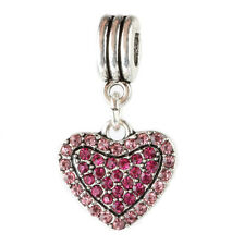 925 Silver Rose love Charm Beads Fit European Charm Bracelet Pendant #E383