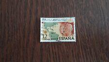sello usado primer viaje a América de Juan Carlos I y Sofia, edif.2333 año 1976