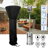Outdoor Black Patio Gas Heater Cover UV Protector Garden Polyester Waterproof