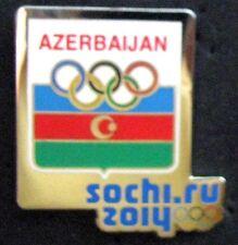 SOCHI 2014 Olympic AZERBAIJAN NOC team delegation pin  very rare