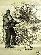 BLACK AMERICANA CHRISTMAS DINNER PIG RIFLE 1888 Print Matted