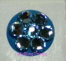 AQUA BLING Home Button Sticker for iPhone 2 3G 3GS 4 4S 5  w/ Swarovski Elements