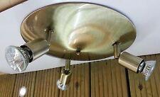 GU10 Pressed Steel Adjustable Triple Plate Halogen Spotlight Round Ceiling Light