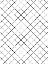 Darice Embossing Folder ~ Wire Fence ~ Square Background Cardmaking A2 1218-58