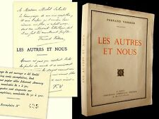 """""""Les AUTRES et NOUS"""" Fernand VASSEUR EO 1930 numéroté 500 ex Velin envoi signé !"""