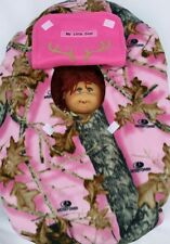 Cozy Infant Carrier Car Seat Cover Mossy Oak Pink Camo Fleece Custom Embroidery