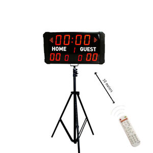 Electronic Soccer Basketball Scoreboard Digital LED Portable ScoreBoard