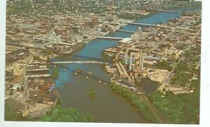 ROCKFORD, ILLINOIS-AERIAL VIEW-BUSINESS SECTION-#30207C-(ILL-R#2*)