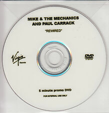 MIKE & THE MECHANICS REWIRED PROMO DVD PAUL CARRACK