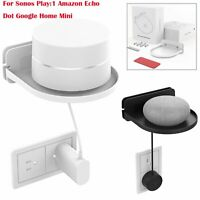 Wall Mount Shelf Holder Stand for Sonos Play:1 Amazon Echo Dot Google Home Mini