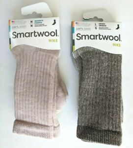 Smartwool Adults Hike Crew Socks Merino Wool Unisex Large or Women Medium USA