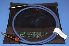 15' Speaker Cable ~ Evidence Audio Siren II 15 ft Gold or Nickel Plugs ~FREE BAG