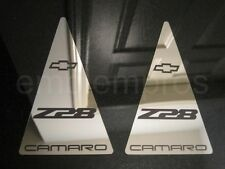 GM LICENSED, 93-02 CAMARO 'Z28' SAIL PANEL COVERS SET, MIRROR STAINLESS STEEL