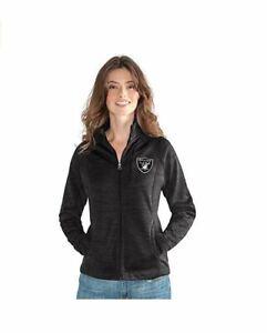 G-III 4her Oakland Raiders Women's Hand Off Full Zip Jacket - Charcoal