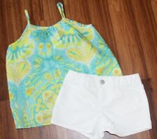 Girls - GAP KIDS - 2pc Spring Summer White Shorts Floral Tank Set Outfit L 10