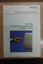 rare catalogue ordinateur vintage Hewlett Packard HP-150 écran tactile1984 N°2