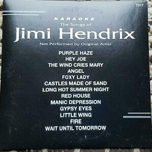 JIMI HENDRIX KARAOKE CDG DISC BACKSTAGE CD+G ROCK OLDIES,PURPLE HAZE,ANGEL,FOXY
