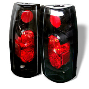 Chevy GMC 88-98 C/K Series Suburban Yukon Tahoe Black Housing G2 Tail Lights